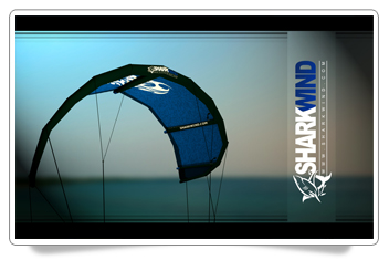 Sharkwind Blue Kite Kitesurfing HD Desktop Wallpaper