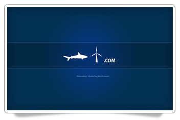 Sharkwind Blue Screen Kitesurfing HD Desktop Wallpaper