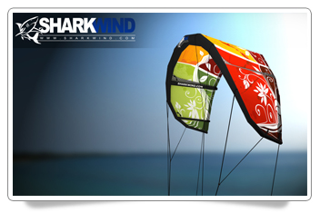 Sharkwind Kiteboarder Solo Kite HD Wallpaper